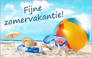 Fijne zomervakantie