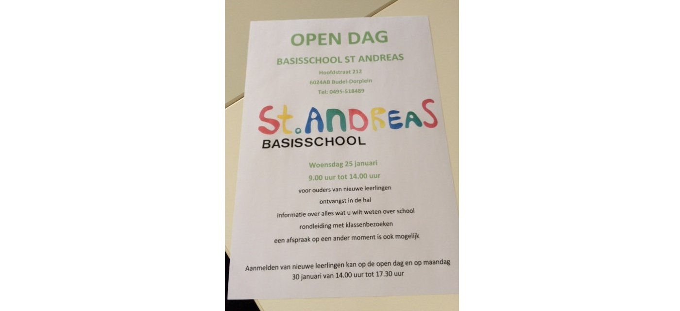 Open dag BS St Andreas
